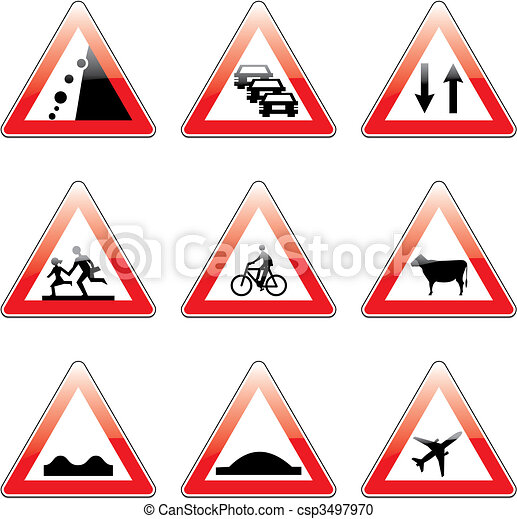 Traffic Icon Vector Vector European Traffic Signs