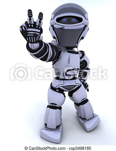 cute robot cyborg - csp3498185