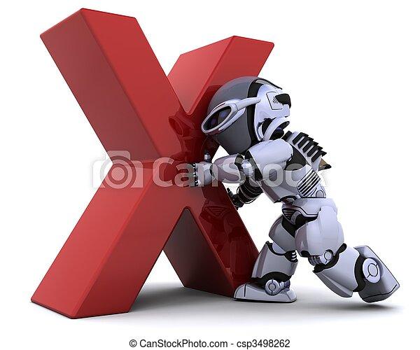 robot with symbol - csp3498262