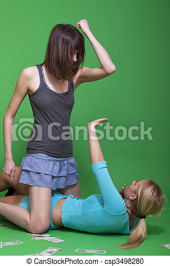 violent woman - csp3498280