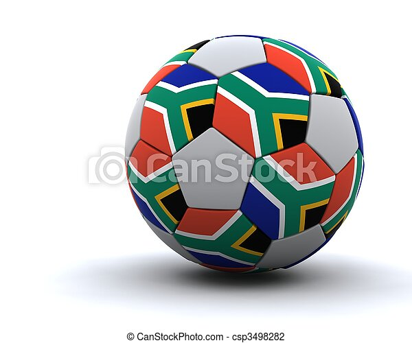 world cup football 2010 - csp3498282