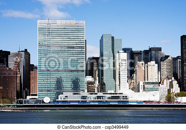 United Nations headquarters - New York City - csp3499449