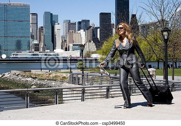 Entrepreneur business woman running - csp3499450