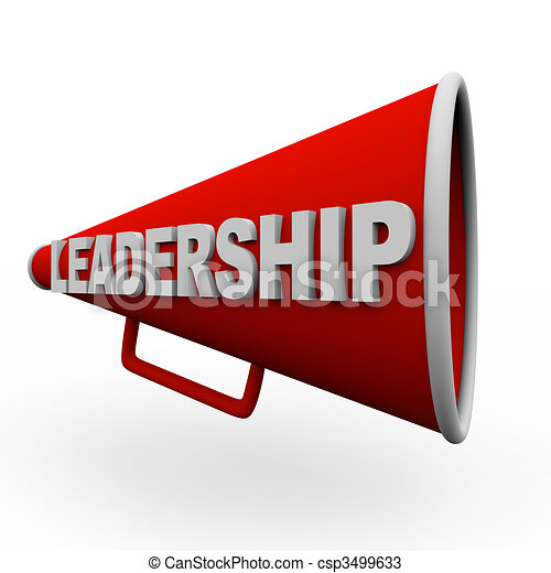 Leadership - Red Bullhorn - csp3499633