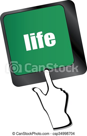 Life key in place of enter key - social concept - csp34998704