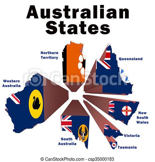 Australian States - csp35000183