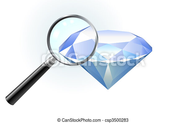 Diamond under magnifying glass - csp3500283