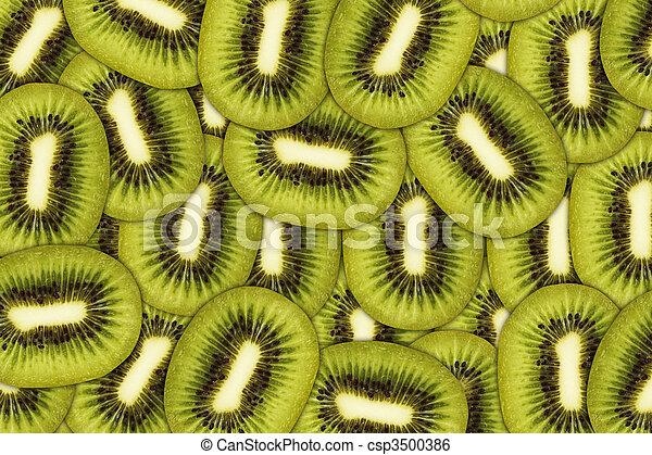 Fresh juicy kiwi fruit background - csp3500386