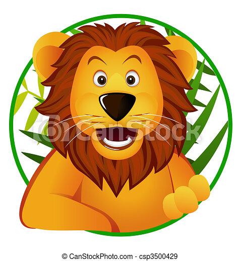 Cute lion - csp3500429