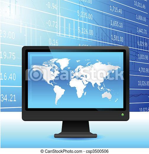 Global economy background. - csp3500506