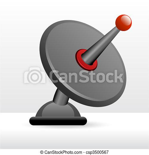 Vector of Satellite dish - Silhouette satellite dish vector ...