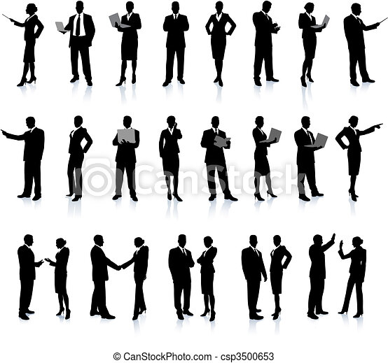 Business People Silhouette Super Set - csp3500653