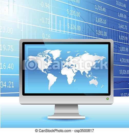 Global economy background. - csp3500817