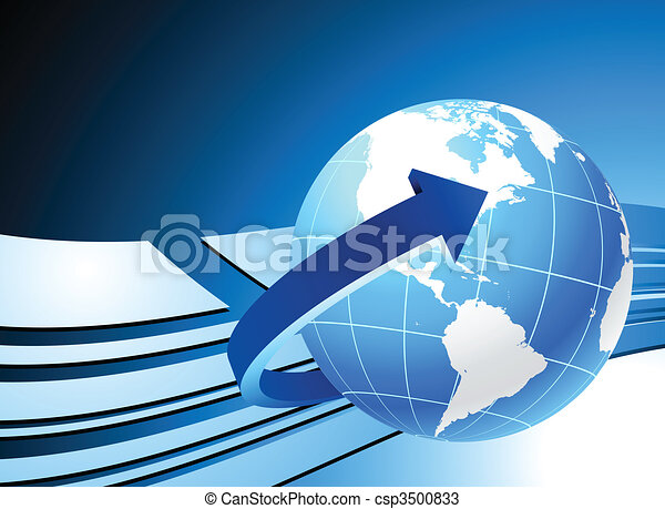 Globe on blue background - csp3500833