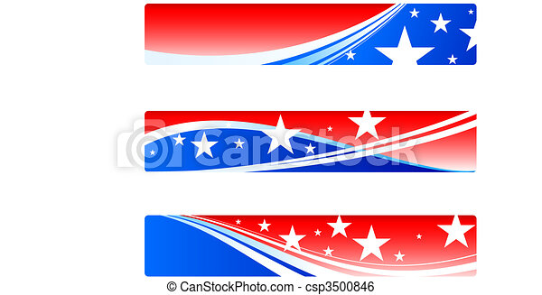 Independence Day patriotic banners - csp3500846