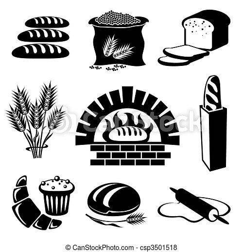 bread icons - csp3501518