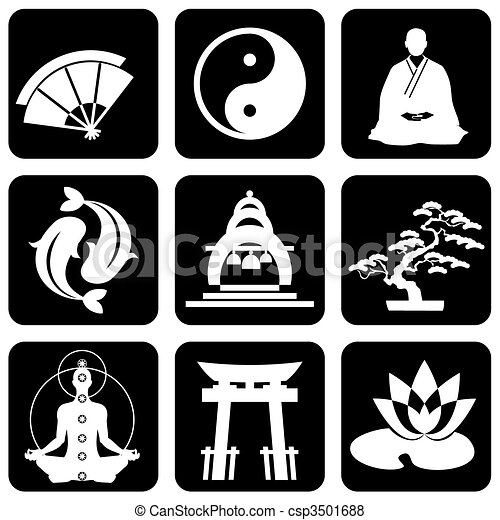 religious buddhism signs - csp3501688