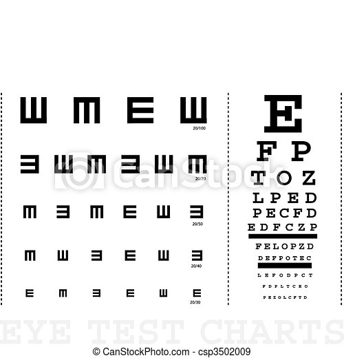 Vector Snellen eye test charts for children and adults - csp3502009