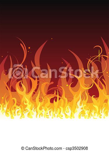 fire - flames - csp3502908