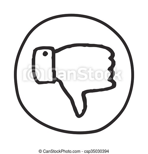 EPS Vectors of Doodle Thumbs Down icon. Infographic symbol in a ...
