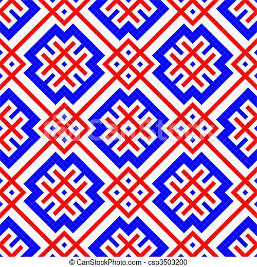 Seamless geometric ornament - csp3503200