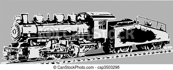 OLD LOCOMOTIVE - csp3503298