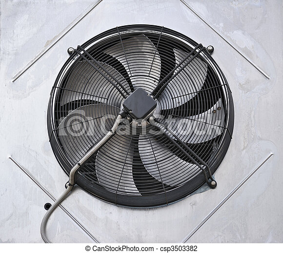 Stock Photo of Industrial fan in the wall csp3503382 ...