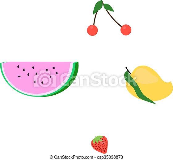 Set of four fruits - csp35038873