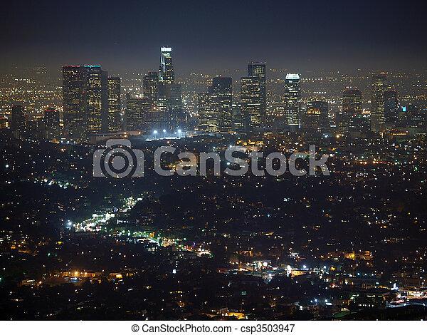 Los Angeles Night - csp3503947
