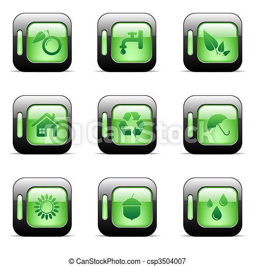 Environmental icons - csp3504007