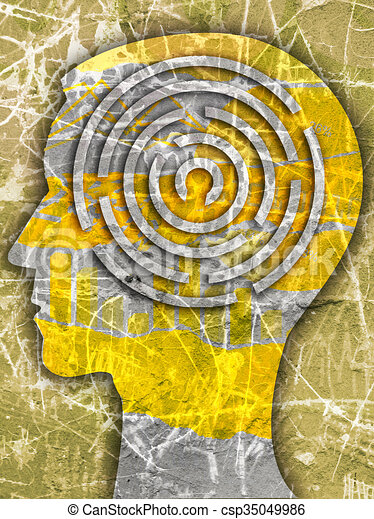 Labyrinth of life. - csp35049986