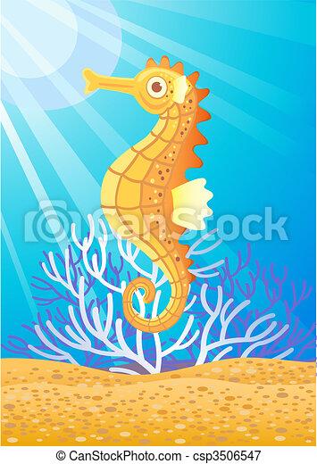 Cute seahorse - csp3506547
