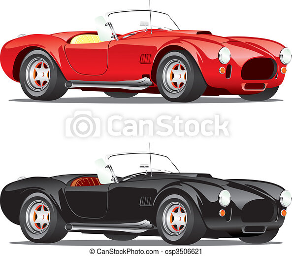 isolated convertible cars  - csp3506621