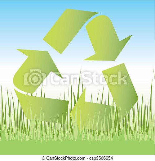 Recycle symbol icon - csp3506654