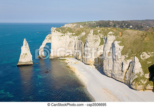 Cliffs at Etretat  - csp3506695