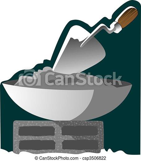 Clip art de mezclar cemento ilustraci n de mezclar - Como mezclar cemento ...