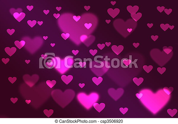valentine\'s,  bokeh, jour, fond - csp3506920