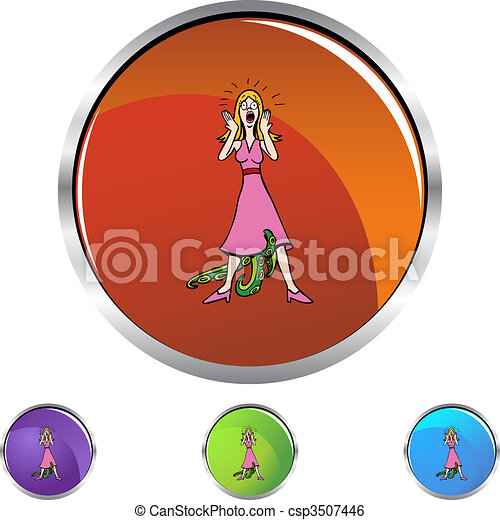 Venereal Diseased Woman - csp3507446