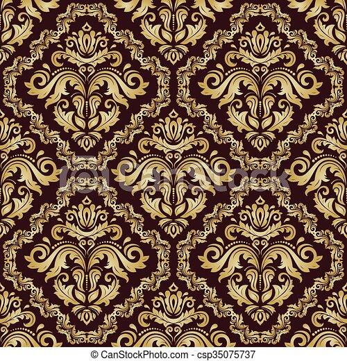 vector vector estilo papel pintado seamless barroco