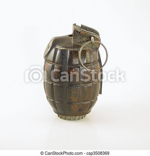 WWII Era Hand Grenade - csp3508369