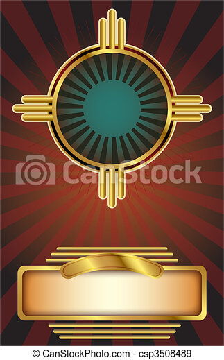Art Deco background - csp3508489