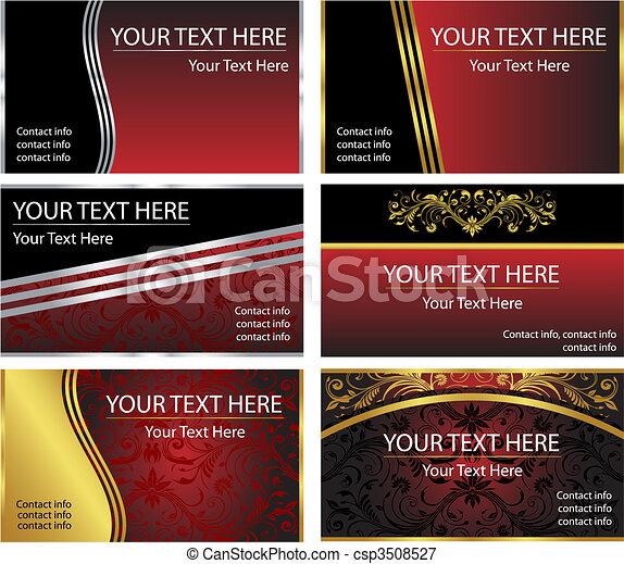 Six Vector Business Card Templates - csp3508527