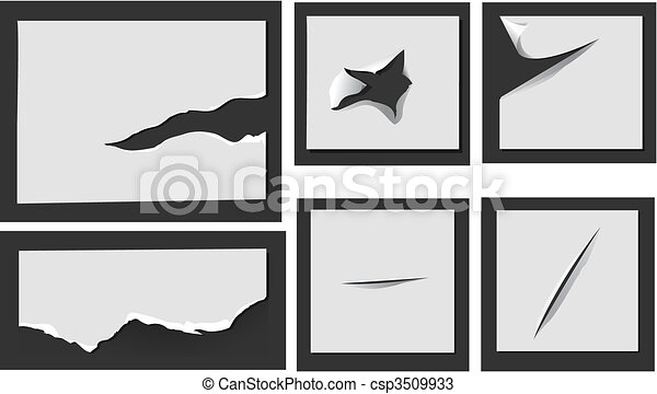 Torn paper with holes - csp3509933