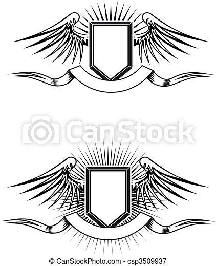 Heraldic emblems - csp3509937