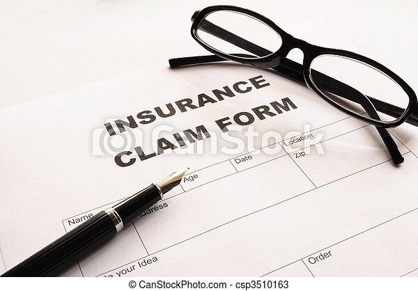 insurance claim form - csp3510163