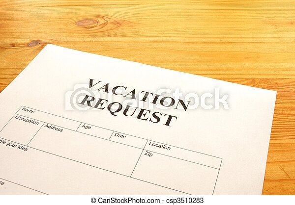 vacation request - csp3510283
