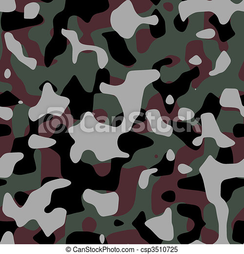 Seamless Camo Pattern - csp3510725