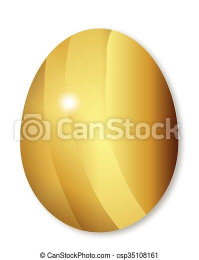 Golden Easter Egg - csp35108161