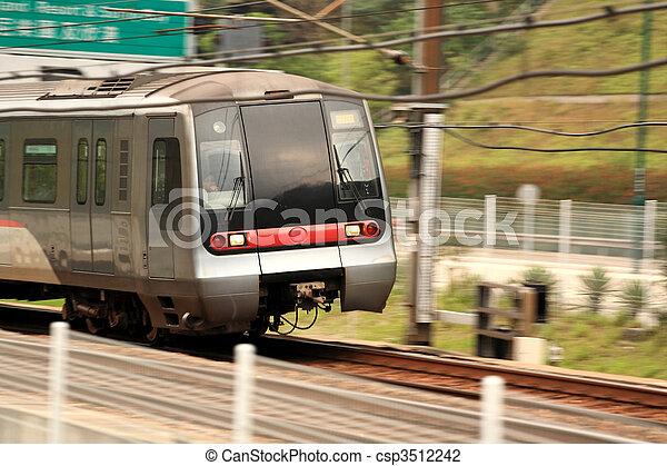 Hong Kong train - csp3512242