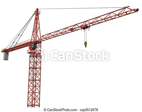 Isolated Crane - csp3512676